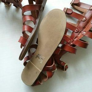 Madden Girl Shoes - Madden Girl Penna Cognac Brown Gladiator Sandals